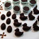 Chokolade på fad close up